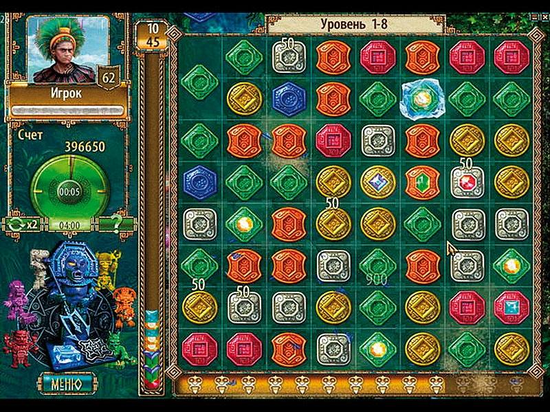 Скриношоты игры Сокровища Монтесумы 2. Скачать бесплатно игру