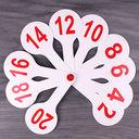 Веер школьный (цифры; арт. DV-11508) — фото, картинка — 1