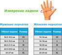 Перчатки для фитнеса SU-117 (S; чёрные/серые/голубые) — фото, картинка — 1