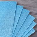 Замша пластичная (А4; голубая; 10 листов; с блестками) — фото, картинка — 1