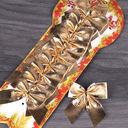 Бант декоративный (12 шт.; золотой) — фото, картинка — 1